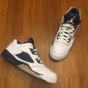 WORN 1X Nike Air Jordan 5 Low Dunk From Above 12.5